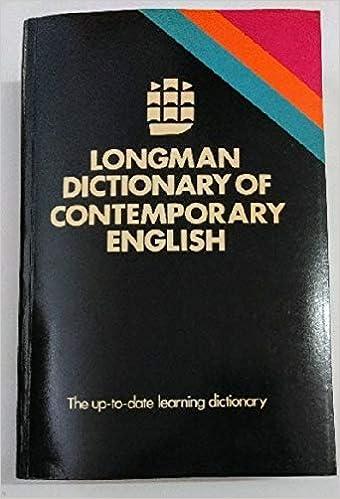 Longman Dictionary Of Contemporary English Procter Paul