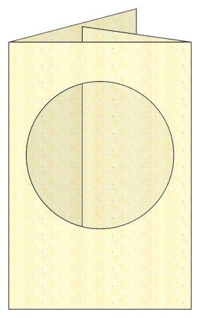 marteau cercles Cr/ème Lot de 5 m Double pli cartes et enveloppes avec ouverture