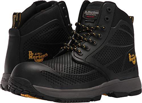 Dr. Martens Men's Calamus Electrical Hazard ST 7 Eye Boots, Black Mesh, Rubber, 11 M UK, 12 M US