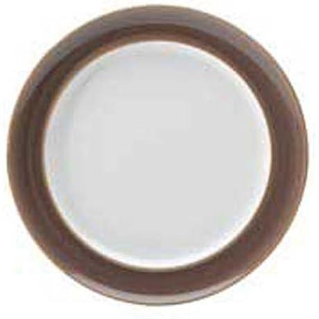 Denby Truffle Wide Rimmed Dinner Plates Set Of 4