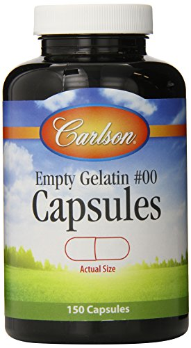 Carlson Labs Empty Capsules, Large, 150 Count