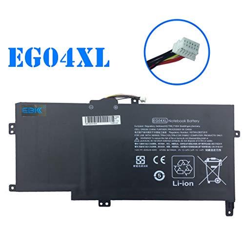 1215tx Battery - EBKK 14.8V 60Wh EG04XL Battery for HP 681881-171 Envy Sleekbook 681881-271 681881-1B1 681951-001 681881-121 681881-221 681951-001 TPN-C103 TPN-C108 HSTNN-IB3T HSTNN-DB3T Series Laptop(8 Cell)