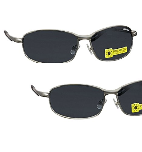 2 Pair Foster Grant Polarized Metal Frame Sunglasses with Spring Hinges with Ironman Eyeglass - Eyeglass Frames Ironman