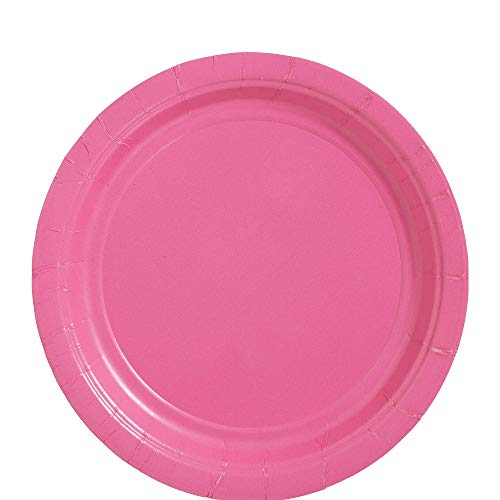 Amscan Bright Pink Dinner Paper Plate Big Party Pack, 50 Ct. from amscan