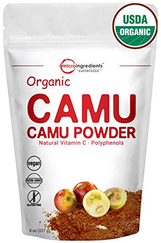 Cheap Peruvian Pure Organic Camu Camu Powder, (Natural Vitamin C Powder), 8 Ounce, Powerful Energy and Immune System Booster. Non-Irradiated, Non-Contaminated, Non-GMO and Vegan Friendly.