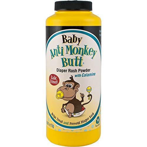 Anti Monkey Butt Baby Powder with Calamine – Prevents Diaper Rash and Absorbs Moisture – Talc Free – 6 Ounces – Pack of…
