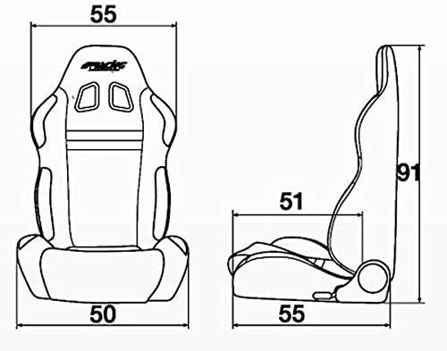 Simoni Racing Srs 1b Sport Seat Jenson Blau Auto