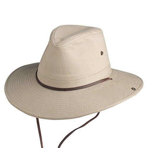 Conner Hats Men's Sahara Aussie Cotton Slouch Hat, Khaki, XL