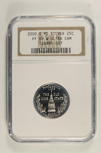- 2000 S Maryland State Quarter Quarter PF69 Ultra Cameo NGC