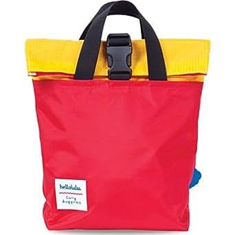 Hellolulu Kid's Jazper Rolltop Backpack - Red/Yellow