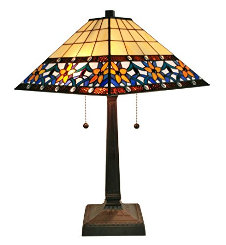 Amora Lighting AM242TL14 Tiffany Style Floral