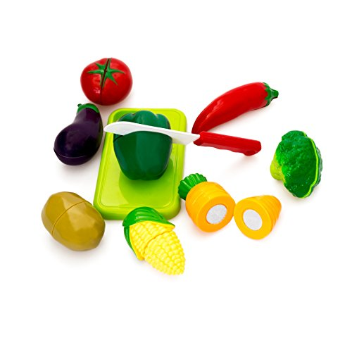 Little Treasures Healthy Vegetables Toy for Children's Playtime Kitchen Fun , Cut Chop the Food for Pretend Play Eating Meal Time