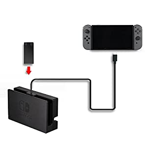Fashioneey Nintendo Switch Extension Cable,USB-C Charging Cable for Nintendo Switch Console Connector Extender Cord Charging and Data Sync for Nintendo Switch Dock (3.3 Feet)
