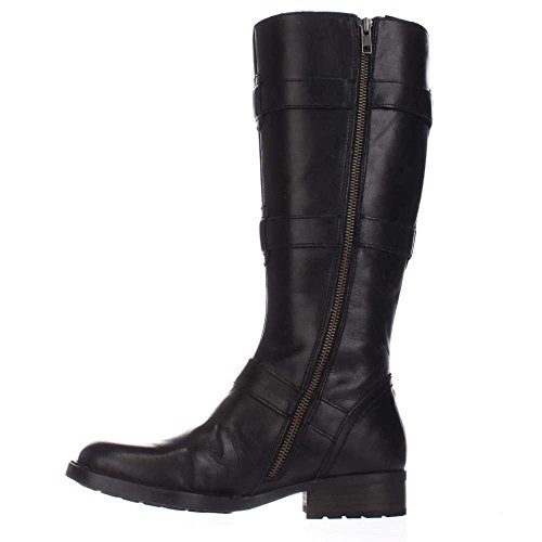 Born Womens Falmouth Leather Round Toe Knee High Fashion Boots, Black, Size 6.0
