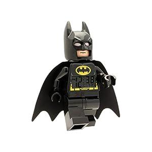 LEGO Despertador Infantil con Figurita de Batman de Batman PELÍCULA 9005718|Negro/Amarillo|Plástico|24 cm de Altura|Pantalla LCD|Chico Chica|Oficial 3