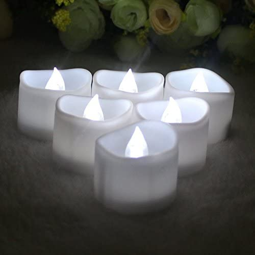 Goswot Pack of 24 Warm White Flickerng Flameless Candles for Christmas Party Decoration Pack of 24