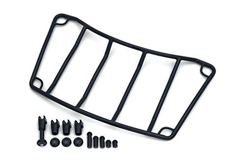 Kuryakyn Gloss Black Multi-Rack Adjustable Trunk Luggage Rack 21″W x 12″L for Honda, Harley, Kawasaki, Victory and Yamaha Models ()
