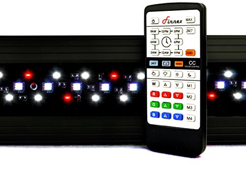 Finnex Planted+ 24/7 CRV Aquarium LED Light, Automated Full Spectrum 660Nm Deep Red Fish Tank Light, 46.5-48