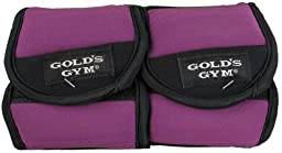 Gold\'s Gym 3 lbs. Pair Ankle / Wrist Weight ~ Increase Muscle Tone (2) 1.5 lbs.