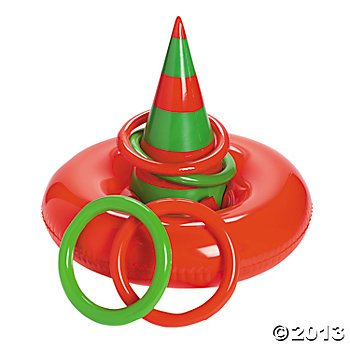 Inflatable ELF HAT Ring Toss CHRISTMAS Party GAME/Holiday ACTIVITY/INFLATE