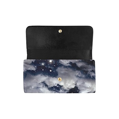 Wallet Meow Trifold and Clutch Octopus Star Silly Night Custom Gift Dot Great in Women's Sky Wallets Long Women's Moon Work The Ypgwqgd