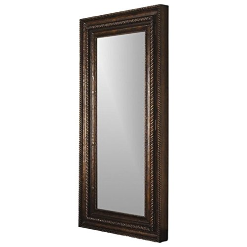Hooker Furniture 500-50-656 Floor Mirror w/Hidden Jewelry Storage, Mahogany Veneer