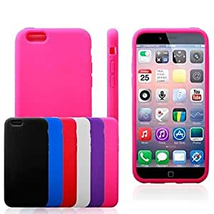 SHOUJIKE Flat Surface Silicone Soft Case for iPhone6 (Assorted Colors) , Blue