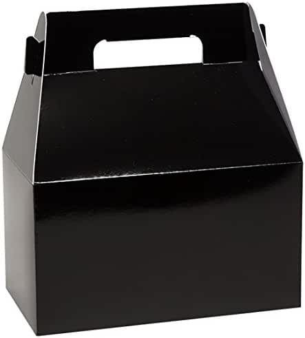 Gable Box Deluxe Food Container by Tap - Case of 100 (Black)