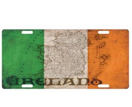 IRELAND Vintage -Flag Custom License Plate Auto Tag 12
