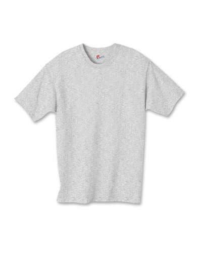 Hanes boys Cotton T-Shirt(5450)-Light Steel-S