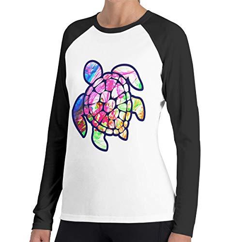 (Women's Tee Shirts, Fashion Sea Turtle Tie Dye Long-Sleeved Shirt for Women)