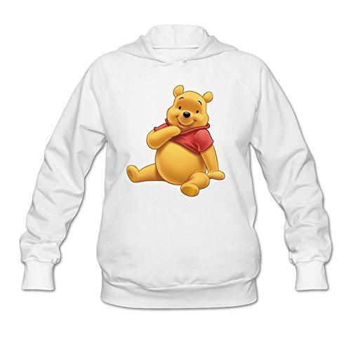 HeZonei Women's Winnie The Pooh Hoodie White L]()