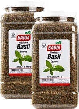 Badia Basil Leaves Whole 24 oz Pack of 2 by Badia
