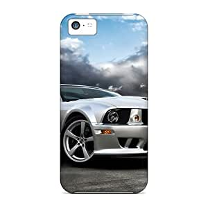 Shock Absorbent Hard Phone Cover For Iphone 5c (ZJB17812zXlr) Support Personal Customs Vivid Ford Mustang Image