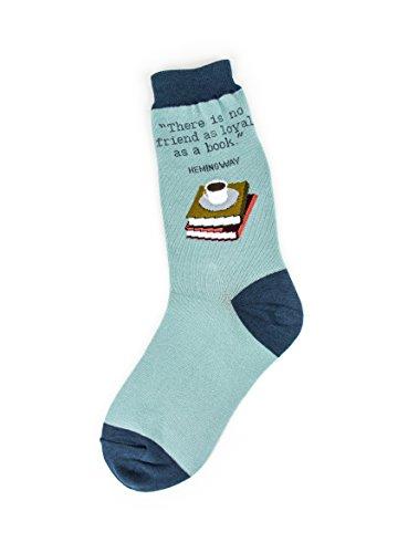 (Foot Traffic - Women's Education-Theme Socks, Loyal Books (Shoe Sizes 4-10))