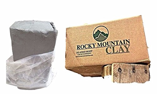 Kiln Clay Art (Pottery Clay - 50 lb of Low Fire Cone 06 White Clay - Rocky Mountain Clay CT3)