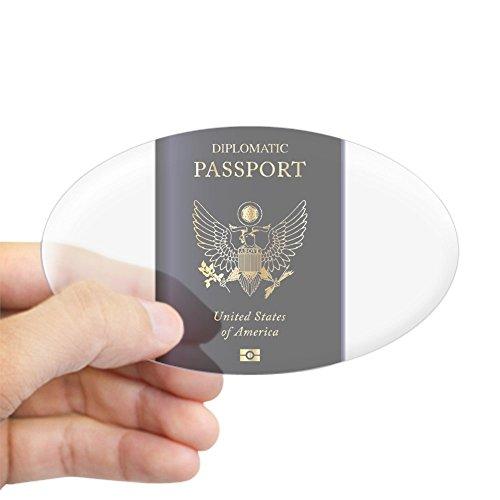 Diplomatic Passport - CafePress - USA Diplomatic Passport Sticker - Oval Bumper Sticker, Euro Oval Car Decal