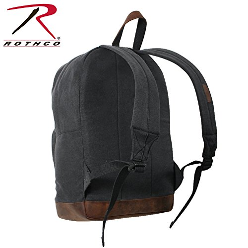 - Rothco Canvas Teardrop Pack-Black W/Leather Accent