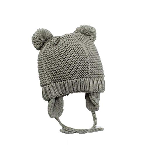 Baby Hats 1-5 Years Boys Kids Winter Hats Bonnet Enfant Hat for Children Gray -