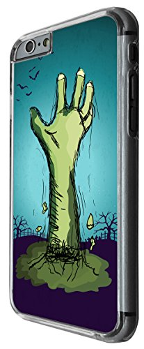 1114 - Cool Fun Zombie Hand Scary Design For iphone 6 6S 4.7'' Fashion Trend CASE Back COVER Plastic&Thin Metal -Clear