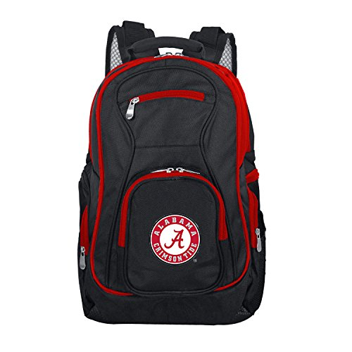 NCAA Alabama Crimson Tide Colored Trim Premium Laptop Backpack (Bag Alabama Tide Laptop Crimson)