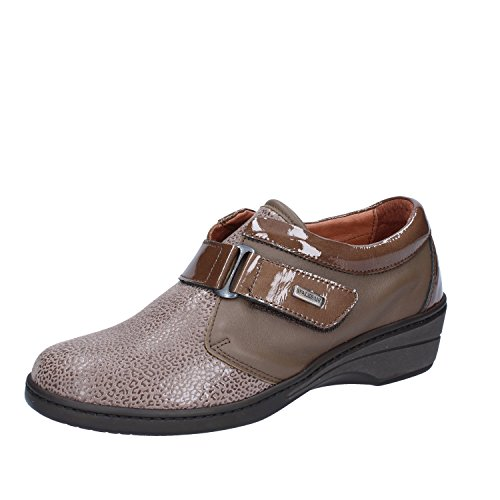 SUSIMODA Sneakers Donna 37 EU Marrone Beige Pelle Vernice Camoscio