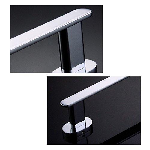 Luxury 24'' Solid Brass Single Bathroom Towel Bar Rail Rack, Towel Holder Chrome Finished Mirror Polishing Wall Mounted Bathroom Accessories by ThinkTop (Image #3)