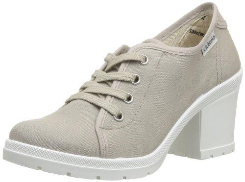 Victoria Women's Platform Sneaker with Heel, Beige, 10 M US