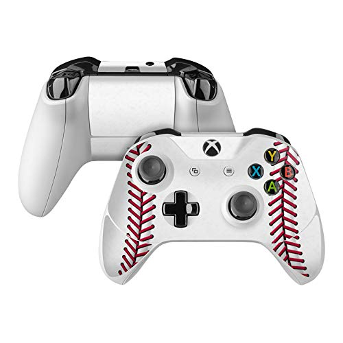 Baseball Skin Decal Compatible with Microsoft Xbox One and One S Controller - Full Cover Wrap for Extra Grip and Protection from DecalGirl