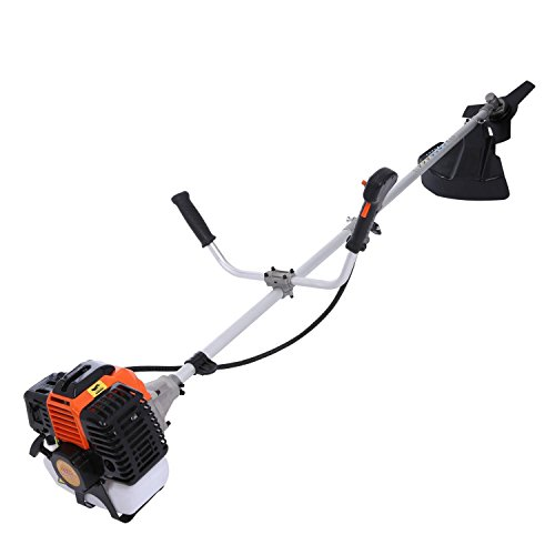 Lantusi 43cc 2-Cycle Gas Powered Straight Shaft Trimmer Brush Cutter Combo with Adjustable J-Handle for Grass Trimming by Lantusi (Image #4)