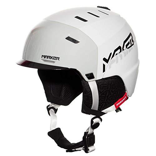 MARKER(マーカー)フェニックス オーティス スキー スノーボード スノーヘルメット 大人用 PHOENIX OTIS 4Block白い×グレー Medium
