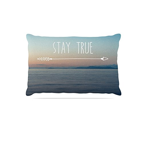 Kess InHouse Ann Barnes Stay True  Typography Fleece Dog Bed, 50 by 60 , Coastal