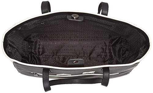 H Bag black T Exchange Shoulder Armani Noir Cabas Cm white 5x12x35 X 34 b Femme EF1Onwqwx