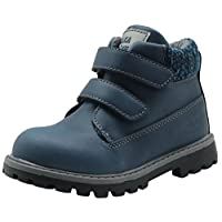 Apakowa Autumn Winter Toddler Boys Cowboy Martin Boots (Color : Darkblue, Size : 10 M US Toddler)
